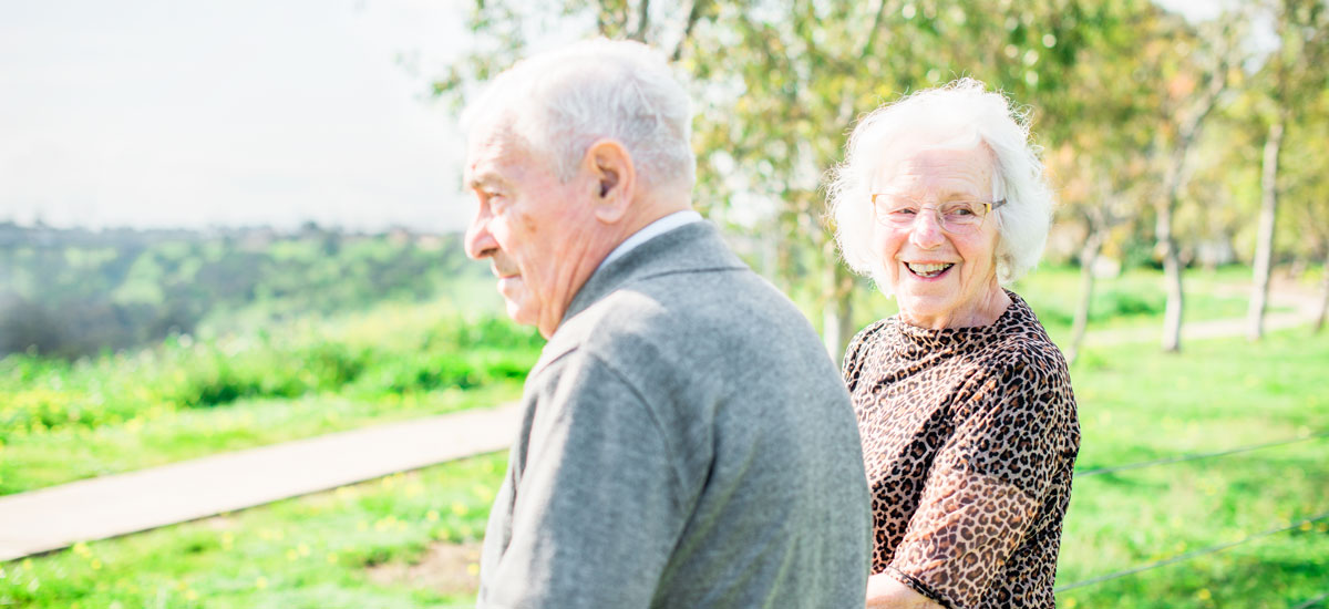 Douuta Galla Avondale header image - senior couple in the park