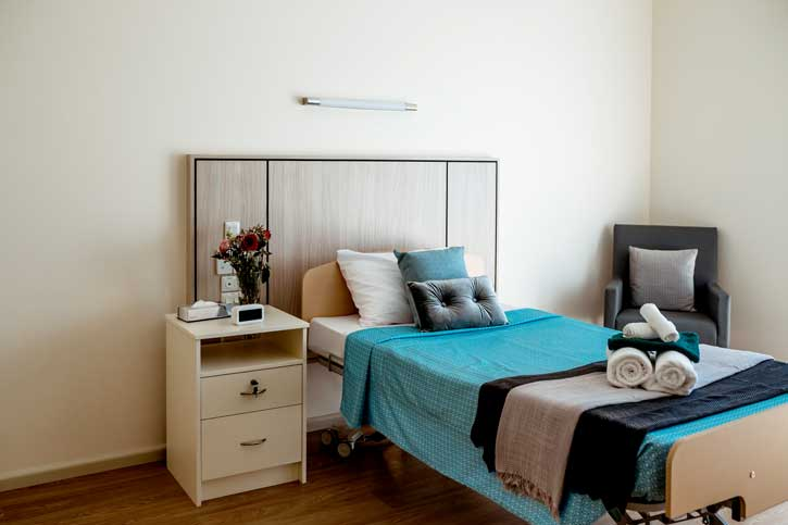 Doutta Galla Harmony Village aged care - typical bedroom
