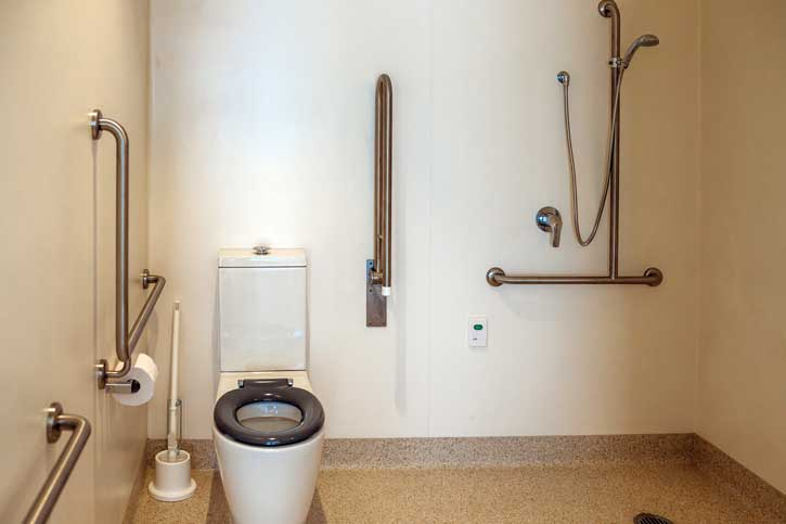 Doutta Galla Harmony Village aged care - typical bathroom