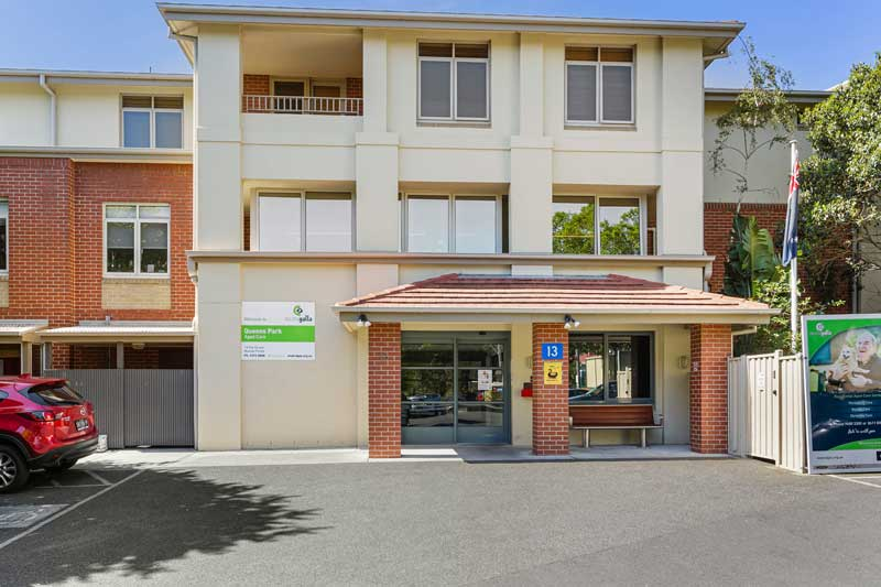 Doutta Galla Queens Park aged care - entranceway to reception