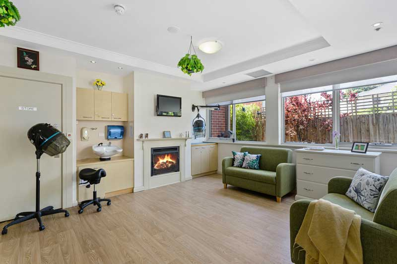 Doutta Galla Queens Park aged care - on-site hairdressing room