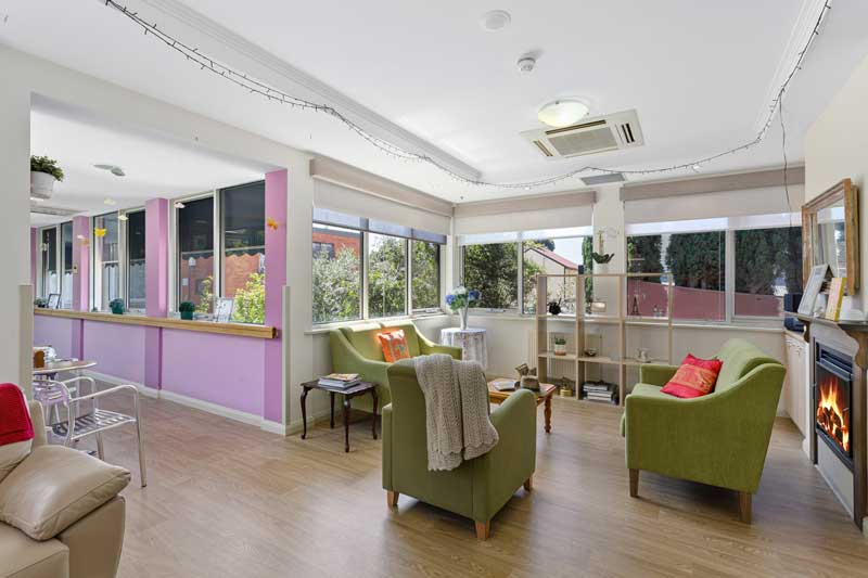 Doutta Galla Queens Park aged care - sitting area with couches