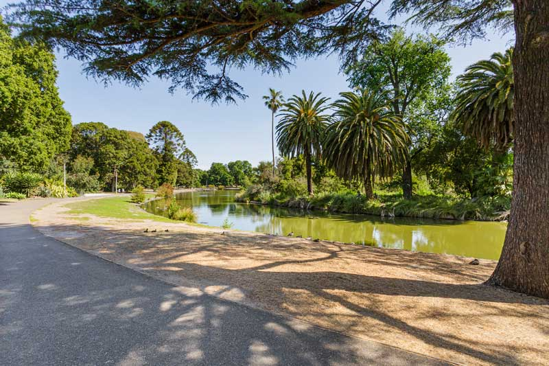 Doutta Galla Queens Park aged care - Queens Park lake and pathway