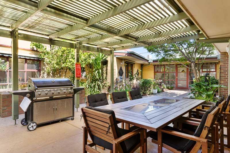 Doutta Galla Yarraville - undercover barbecue area